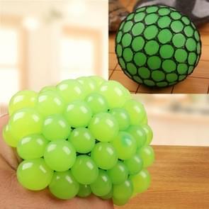 Anti Stress gezicht Reliever Squeeze druif bal extrusie Mood Relief gezonde grappige lastige Vent Toy(Green)