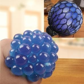 Anti Stress gezicht Reliever Squeeze druif bal extrusie Mood Relief gezonde grappige lastige Vent Toy(Blue)