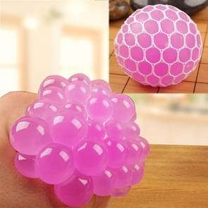 6cm Antistress gezicht Reliever druif bal extrusie Mood Squeeze Relief gezonde grappige lastige Vent Toy(Magenta)