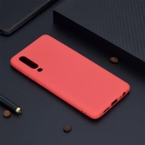 Candy Color TPU Case voor Huawei P30 (rood)