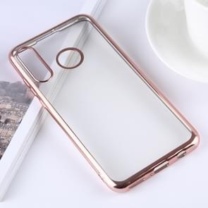 Ultradunne galvaniseren zachte TPU beschermende back cover Case voor Huawei P30 Lite (Rose goud)
