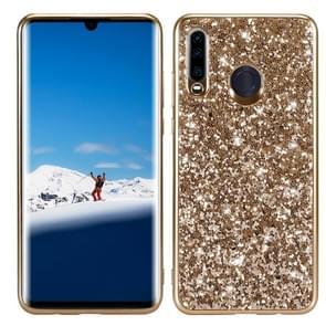 Glitter poeder schokbestendig TPU Case voor Huawei P30 Lite/Nova 4e (goud)