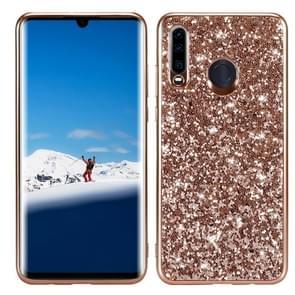 Glitter poeder schokbestendig TPU Case voor Huawei P30 Lite/Nova 4e (Rose goud)