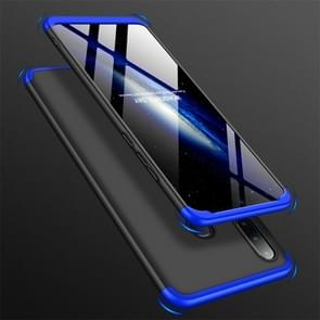 GKK drie stage splicing volledige dekking PC Case voor Huawei Nova 4e/P30 Lite (zwart blauw)