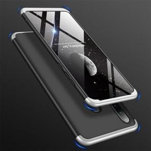 GKK drie stage splicing volledige dekking PC Case voor Huawei Nova 4e/P30 Lite (zwart zilver)
