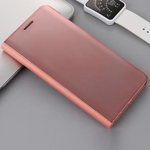 Voor Huawei Mate 9 Pro galvaniseren PC + PU horizontaal beschermhoes met standaard houder & slaap spiegelen / Wake-up functie (Rose goud)