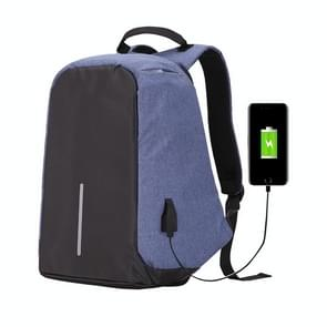 Multi-Function Large Capacity Travel Anti-theft Security Casual Backpack Laptop Computer Bag with External USB Charging Interface for Men / Women  Size: 42 x 29 x 14 cm(Blue)