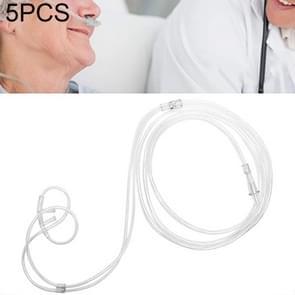 5 PCS Huishouden Wegwerp Dubbel-gat Neus zuurstofbuis zuurstoftoevoer tubing  lengte: 8m