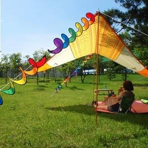 Outdoor Camping Rainbowtree Spinner Bunting Decoration  Size: 110*22 cm