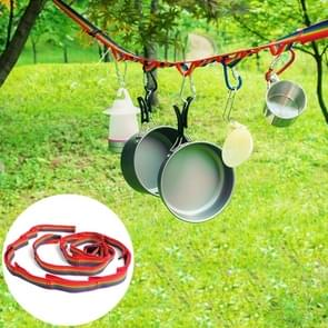 Outdoor Camping Tent Rainbow Rope Decoration Color Ribbon and a Storage Bag  Size: 187*2 cm