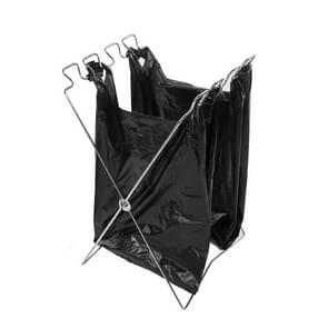 Outdoor Camping Stainless Steel Foldable Garbage Bags Hanger  Size: 58*32 cm