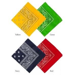 2 PCS Outdoor Seamless Pure Cotton Kerchief Hip-hop Bandana Scarve Unisex Riding Face Mask Collar Windproof Sunscreen Scarf  Size:55*55cm  Random Color Delivery