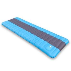 Ultralight Portable Outdoor Camping Air Inflatable Mat Moisture-proof Cushion Mattress Sleeping Pad  Size: 190*60*12cm(Baby Blue)