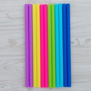 10 PC's Food Grade siliconen rietjes Cartoon kleurrijk drankje Tools met 1 borstel  rechte pijp  lengte: 14cm  buitendiameter: 10mm  binnendiameter: 8 5 mm  willekeurige kleur levering