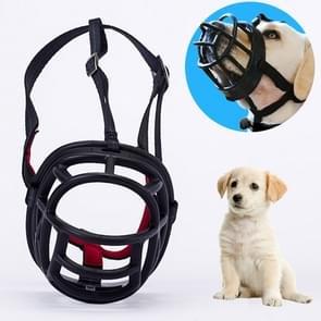 Hond snuit voorkomen bijten kauwen en blaffen maakt drinken en panting  grootte: 6.8 * 6.3 * 7.8 cm (zwart)