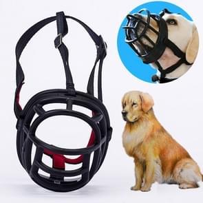 Hond snuit voorkomen bijten kauwen en blaffen maakt drinken en panting  grootte: 12.5 * 12.5 * 15 4 cm (zwart)