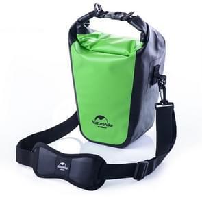 Naturehike volledig waterdichte Camera Bag droog tas Outdoor sporten Sling schoudertas voor DSLR camera's  formaat: 40 x 14 cm x 12cm(Green)