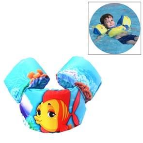 Vis patroon kinderen zwemmen van levensreddende apparatuur drijfvermogen badpak Vest mouwen terug drijvende Arm zwemmen snorkelen pak  grootte ringen: 86cm  geschikt voor 2-7 jaar  drijfvermogen binnen 10-30kg Baby gebruik