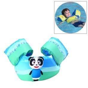 Panda patroon kinderen zwemmen van levensreddende apparatuur drijfvermogen badpak Vest mouwen terug drijvende Arm zwemmen snorkelen pak  grootte ringen: 86cm  geschikt voor 2-7 jaar  drijfvermogen binnen 10-30kg Baby gebruik
