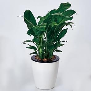 Lui bloempotten automatische waterabsorberende Hydroponic potplanten circulaire hars kunststof bloempotten dubbellaags ontwerp zelf drenken planter  diameter: 11cm  hoogte: 10.3 cm (wit)