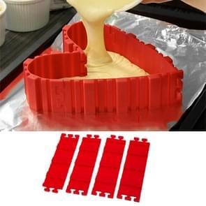 Siliconen taart schimmel bakken Tools DIY Multi vorm Cake schimmel keuken accessoires  4 PC's DIY Cake schimmel