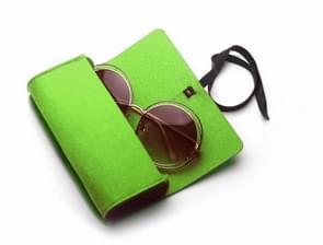 Felt Protective Zipper Case for Sunglasses / Glasses (Green)