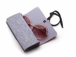 Felt Protective Zipper Case for Sunglasses / Glasses (Grey)