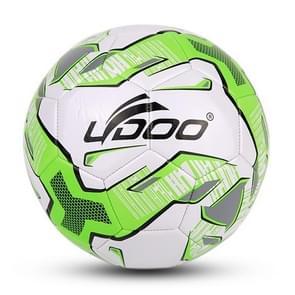 21.5cm PU leer naaien Wearable Match voetbal (fluorescerend groen)