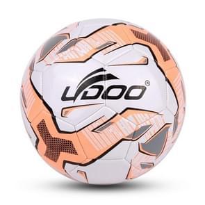 21.5cm PU leer naaien Wearable Match voetbal (fluorescerend roze)