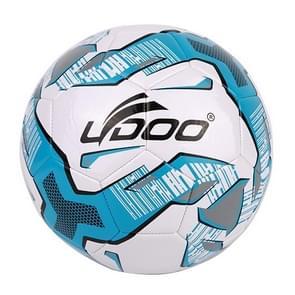 21.5cm PU leer naaien Wearable Match voetbal (fluorescerende blauw)