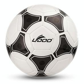 21.5cm PU leer naaien Wearable Match voetbal (zwart + wit)