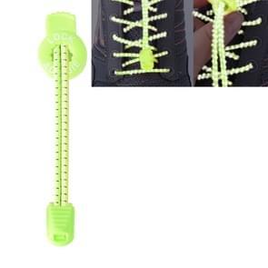 AONIJIE Unisex verstelbare elastische reflecterende sport Lace Quick Lock schoenveter (lichtgroen)