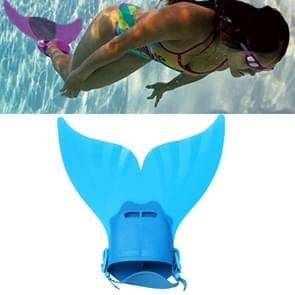 Mermaid Swim Fin Adjustable Diving Monofin Swimming Foot Flipper for Kids (Blue)