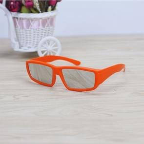 ABS Frame Solar Eclipse Glasses Eye Protection Safe Solar Viewer (Orange)