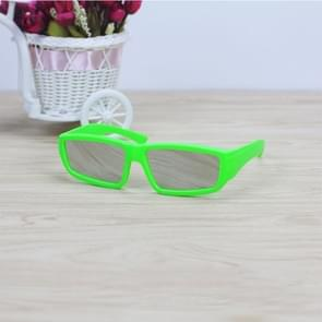 ABS Frame Solar Eclipse Glasses Eye Protection Safe Solar Viewer (Green)