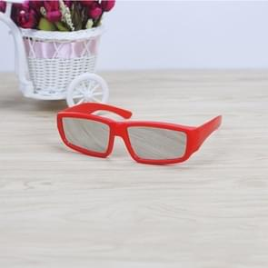 ABS Frame Solar Eclipse Glasses Eye Protection Safe Solar Viewer (Red)
