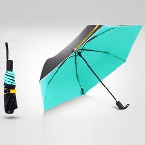 3-Folding 6-Bone Ultralight Black Vinyl Ultraviolet-proof Waterproof All-weather Pocket Umbrella(Blue)