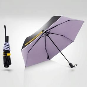 3-Folding 6-Bone Ultralight Black Vinyl Ultraviolet-proof Waterproof All-weather Pocket Umbrella(Purple)