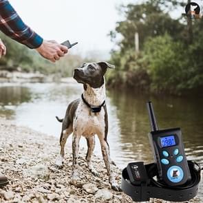 Automatische anti schorsing kraag Pet training controlesysteem + elektrische schok PU lederen kraag voor honden