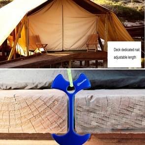 Plank dek Camping vis bot nagel  Aluminium Tenks Wind touw anker ketting Nail(Blue)