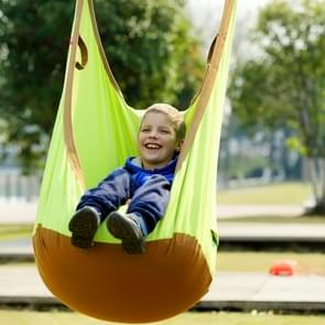 Adult and Children All-cotton Canvas Swing Outdoor Swing Frame Hanging Hammock  Size: 55*75*145cm  Random Color Delivery