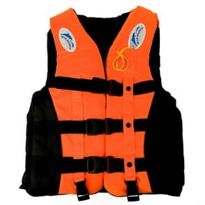 Drifting Swimming Fishing Life Jackets with Whistle for Children  Size:S(Orange)