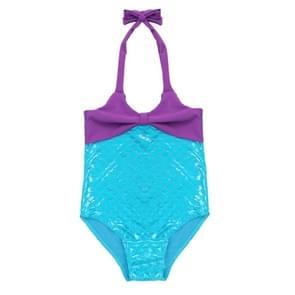 Meisje zeemeermin vis schubben Bowknot Siamese Swimmable Bikini instellen schattig badpak  grootte: 110cm