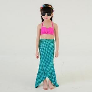 Girl Mermaid Tail 3 Pieces Swimmable Bikini Set Cute Swimsuit  Size: 120cm