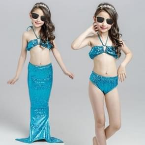 Meisje zeemeermin staart 3 stuks Swimmable Bikini instellen schattig badpak  grootte: 130cm