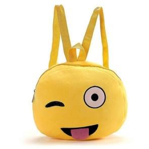 Portable Lovely Faces Round Shape Plush Doll Backpack  Kindergarten Children School Bag