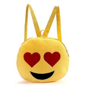 Draagbare mooie gezichten ronde vorm pluche pop rugzak  kleuterschool kinderen schooltas