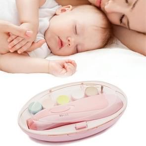 6 in 1 baby nagel Clipper trimmer manicure elektrisch slijpen apparaat gereedschapsset (roze)