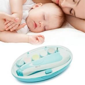 6 in 1 baby nagel Clipper trimmer manicure elektrische slijp apparaat gereedschapsset (blauw)