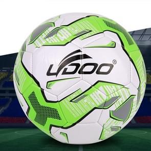 19cm PU leer naaien Wearable Match voetbal (fluorescerend groen)